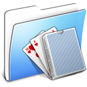 Aqua Smooth Folder Card Deck icon