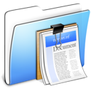 Aqua-Smooth-Folder-Documents icon