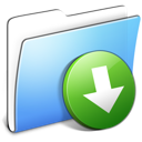 Aqua Smooth Folder DropBox icon