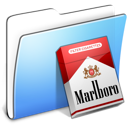 Aqua Smooth Folder Marlboro icon