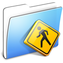 Aqua Smooth Folder Public icon