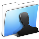 Aqua Smooth Folder Users icon