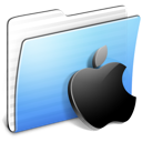 Aqua-Stripped-Folder-Apple icon