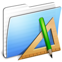Aqua-Stripped-Folder-Applications icon