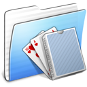Aqua Stripped Folder Card Deck icon