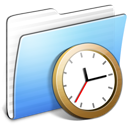 Aqua-Stripped-Folder-Clock icon