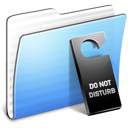 Aqua Stripped Folder Do not disturb icon