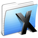Aqua Stripped Folder System icon