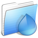 Aqua Stripped Folder Torrents icon