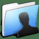 Aqua Stripped Folder Users icon