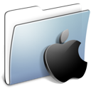 Graphite Smooth Folder Apple icon