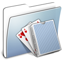 Graphite Smooth Folder Card Deck icon
