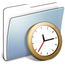 Graphite Smooth Folder Clock icon
