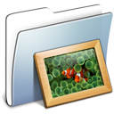 Graphite Smooth Folder Pictures icon