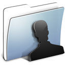 Graphite Smooth Folder Users icon