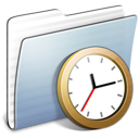 Graphite Stripped Folder Clock icon