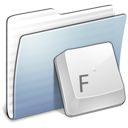 Graphite Stripped Folder Fonts icon