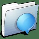 Graphite Stripped Folder iChats icon
