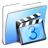 Aqua-Smooth-Folder-Movies icon