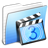 Aqua-Stripped-Folder-Movies icon