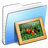 Aqua-Stripped-Folder-Pictures icon
