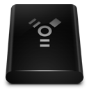 Black Drive Firewire icon