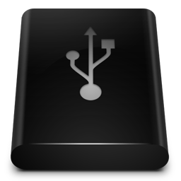 Black Drive USB icon