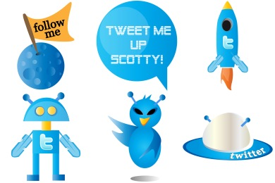 Tweet Me Up Scotty Icons