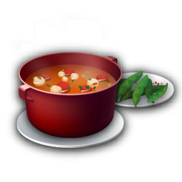 Recipe soup tomato icon