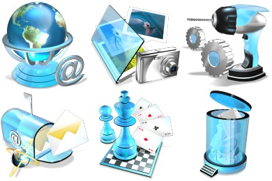 Blue Crystal Icons