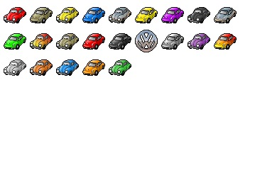 VW Beetle Icons