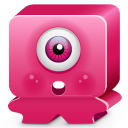 Monster pink icon