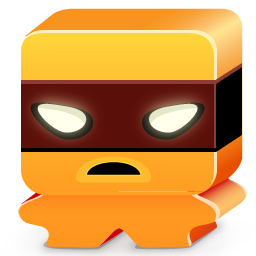 Monster orange icon