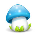 mushroom blue icon