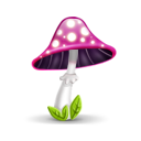 mushroom pink icon