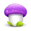 mushroom purple icon