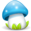 http://icons.iconarchive.com/icons/madoyster/mushrooms/64/mushroom-blue-icon.png