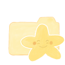 Folder-Vanilla-Starry-Happy icon