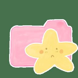 Folder Candy Starry Sad icon