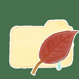 Folder Vanilla Leaf icon