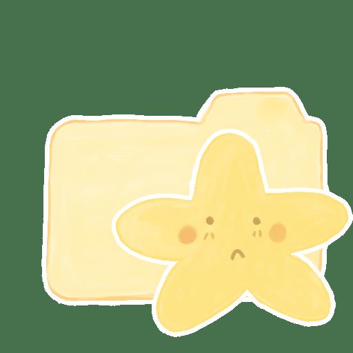 Folder-Vanilla-Starry-Sad icon