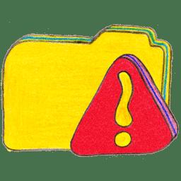 osd folder y warning icon
