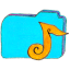 osd folder b music icon