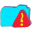 osd folder b warning icon