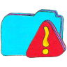 Osd-folder-b-warning icon