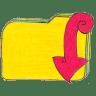 Osd-folder-y-downloads icon