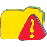 Osd-folder-y-warning icon