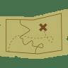 Treasure-map icon