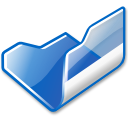 Folder blue open icon
