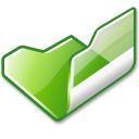 Folder green open icon